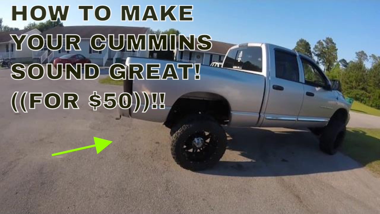 Dodge Cummins sounds So much better! Easy and cheap mod