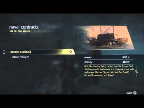 Assassin's Creed 4 - Naval Contract - Silk on the Waves Walkthrough