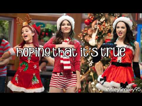 Victorious Cast ft. Victoria Justice - It's Not Christmas Without You (with lyrics)
