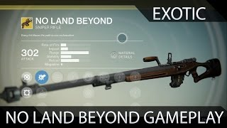 Destiny Dark Below No Land Beyond Excotic Sniper Rifle Gameplay