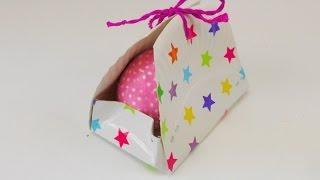 Geschenkbox DIY Ostern / Pappteller Box / Aufbewahrungsbox für Schminksachen deutsch