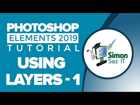 Using Layers In Photoshop. How To Use Layers In Adobe Photoshop Elements 2019 Tutorial - Part 1