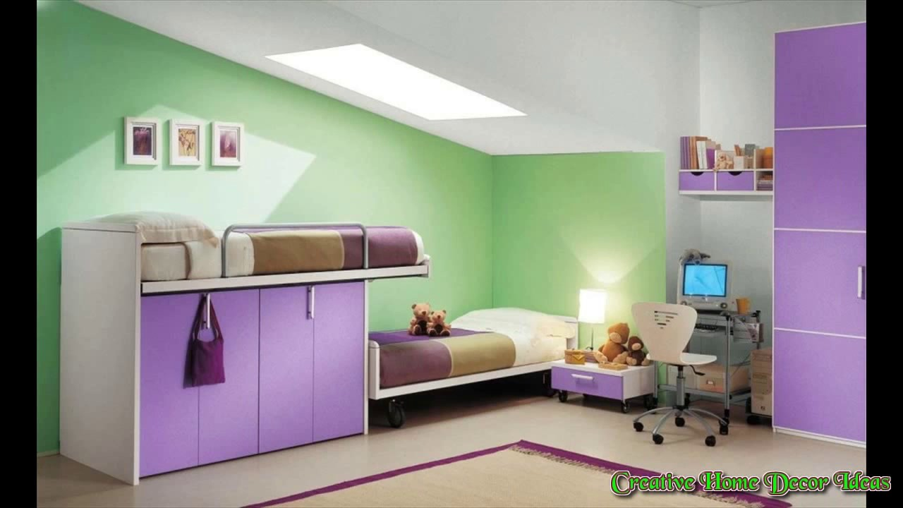 Purple and Green Bedroom Decorating Ideas - YouTube
