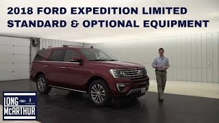2018 FORD EXPEDITION LIMITED OVERVIEW: STANDARD & OPTIONAL EQUIPMENT