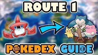 ROUTE 1 COMPLETE POKEDEX GUIDE - Pokemon Sun and Moon