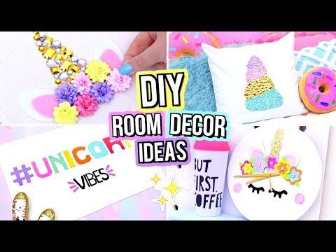 DIY UNICORN ROOM DECOR FOR TEENAGERS! Cute DIY Room Decor Ideas!