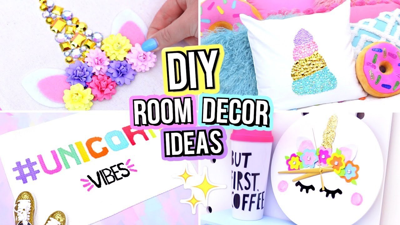 Diy Unicorn Room Decor For Teenagers Cute Diy Room Decor Ideas Youtube