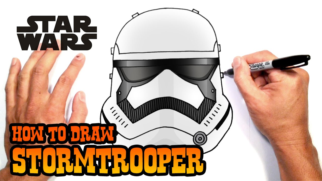 How To Draw A Stormtrooper  Star Wars