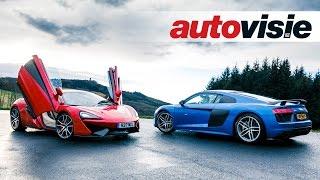 Audi R8 V10 Plus vs. McLaren 570S | English subtitled  - by Autovisie TV
