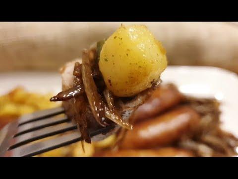 recette-des-pommes-de-terre-sautées-aux-saucisses-grillées