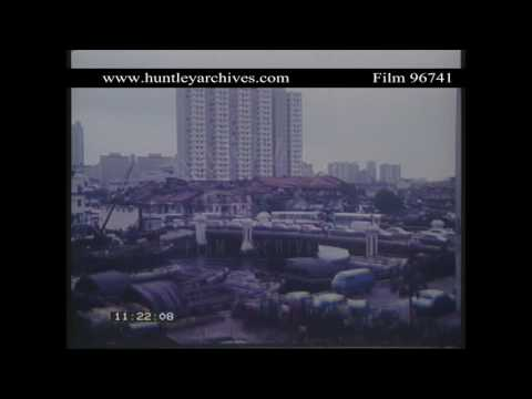Views of Singapore in 1982.  Archive film 96741
