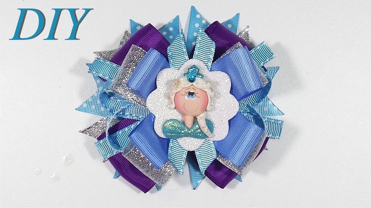 How To Make Hair Bows DIY #10 Disney Frozen Elsa Hair Bow