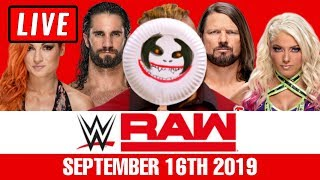 WWE RAW Live Stream September 16th 2019 Watch Along - Full Show Live Reactions