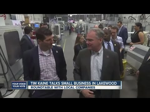 Tim Kaine talks small business in Lakewood