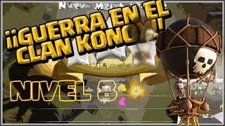 KONOX VS 2FAB4YOU - GUERRA DE CLANES PARA LLEGAR AL NIVEL 8 - Clash of Clans - Español - CoC