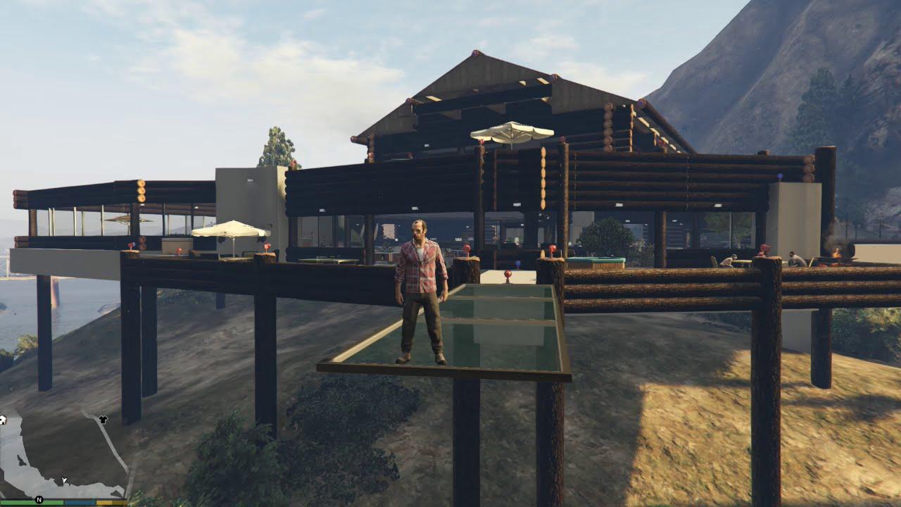 Gta 5 mods casa de campo moderna la casa que trevor for Casa moderna en el campo