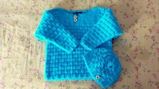 Basket Weave Sweater With Cap Design By Clydknits.