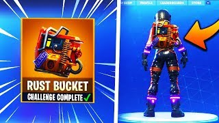 "Complete this Challenge to Unlock ""Rust Bucket"" in Fortnite! What Happens? Secret Unlock Back bling!"