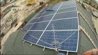видео монтаж солнечных батарей