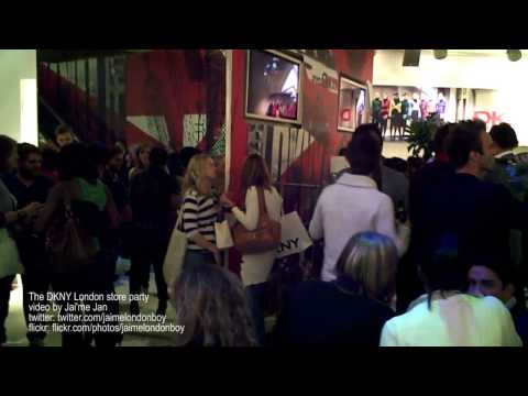 The DKNY Store Party In London 2009 (HD Video)