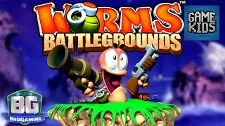 Worms Battlegrounds Gameplay #2 - Bro Gaming