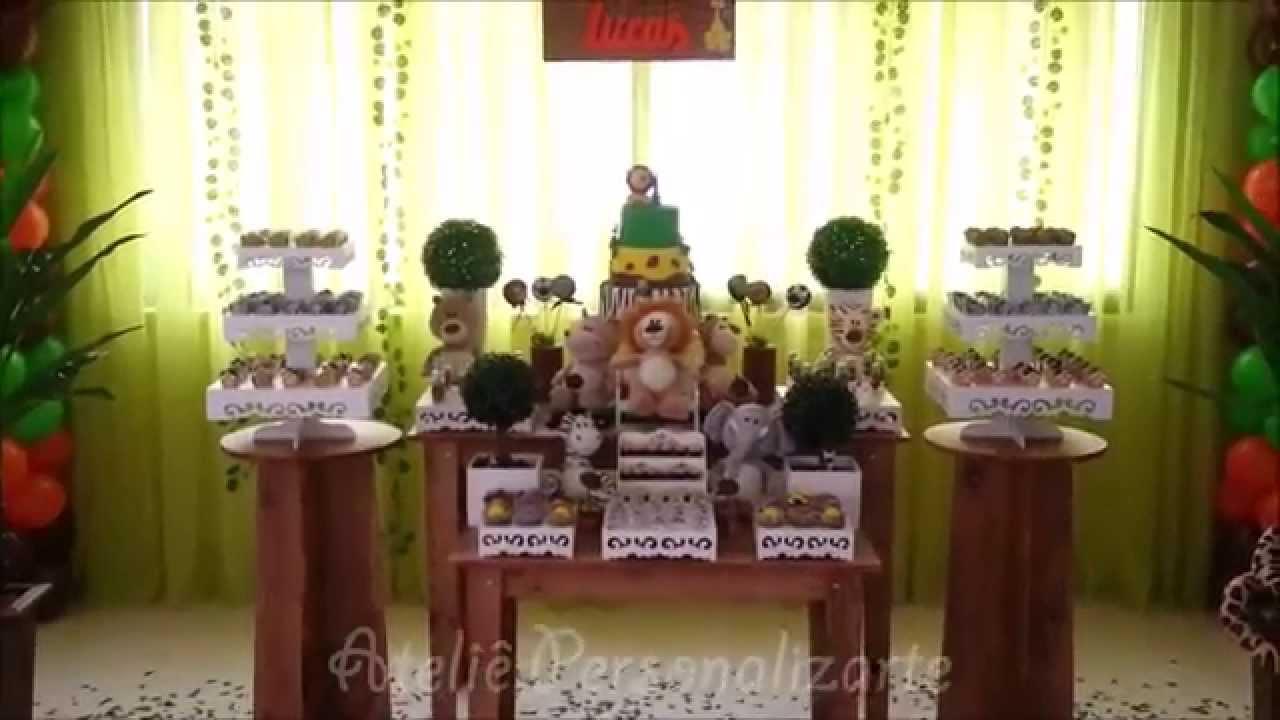 decoracao festa xadrez:Decoração de festa infantil Safári / Floresta / Selva – YouTube
