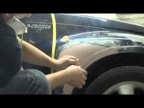 Как сделать ребро на автомобильном крыле ( работа  со шпатлевкой)