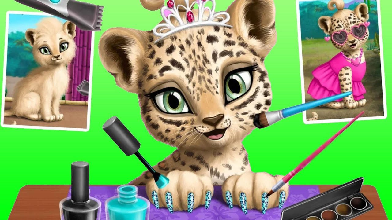 Baby Jungle Animal Hair Salon (by TutoTOONS) - Pet Style Makeover