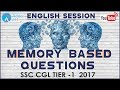 English Language: Memory Based Questions For SSC CGL TIER -1 2017