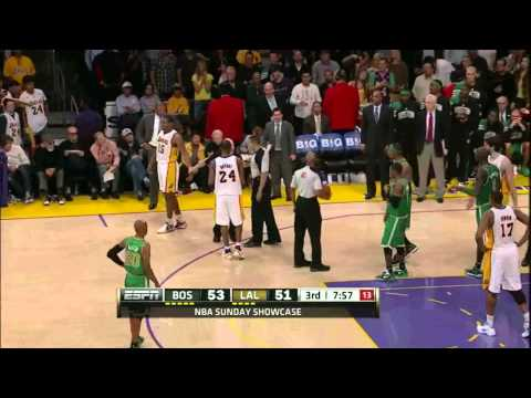 Metta World Peace vs. Paul Pierce and Kevin Garnett