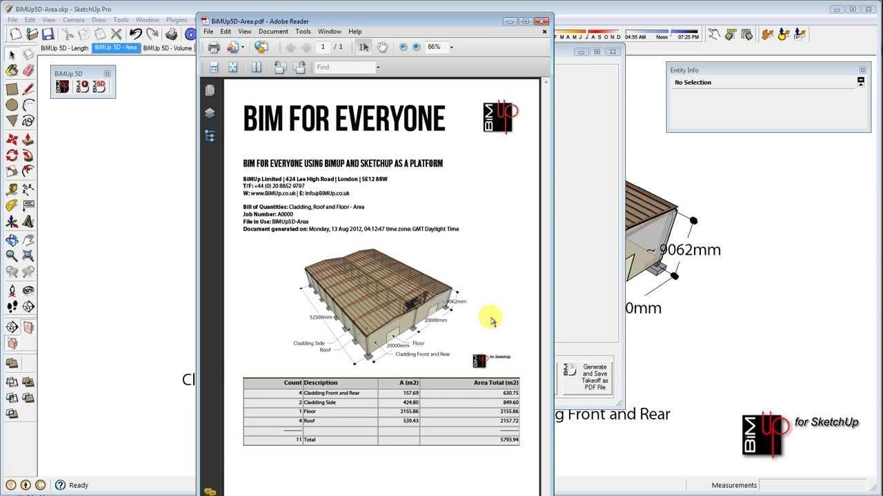 2018 BiMUp 5D for SketchUp | SketchUp Extension Warehouse