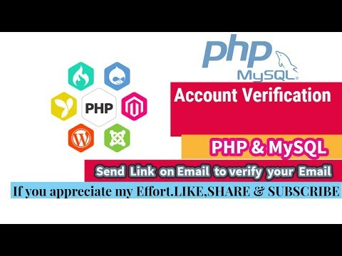 Email Verification Using PHP & MySQL(Send Link To Activate Email)