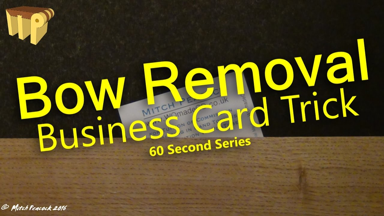 Bow removal business card trick 60 second series youtube bow removal business card trick 60 second series colourmoves Images