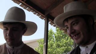 Angel And Miguel gun fighter actors Dodge City Kansas July 23 2014