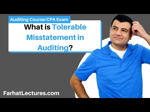 Performance materiality or tolerable misstatement AUD CPA exam Auditing and assurance services