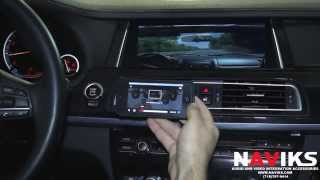 BMW 7 Series F01 2013 NAVIKS Video Integration Interface Apple TV + iPhone 5 Netflix Airplay
