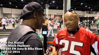 Mitch Faulkner of Ride Out Nation & V103 with Keith Wright at WVEE-103 Cars & Bikes Show