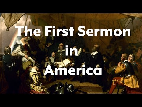 The First Sermon in America (امریکہ میں پہلا مسیحی وعظ)