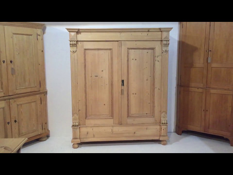 19th Century Big Antique Double Wardrobe - Pinefinders Old Pine Furniture Warehouse