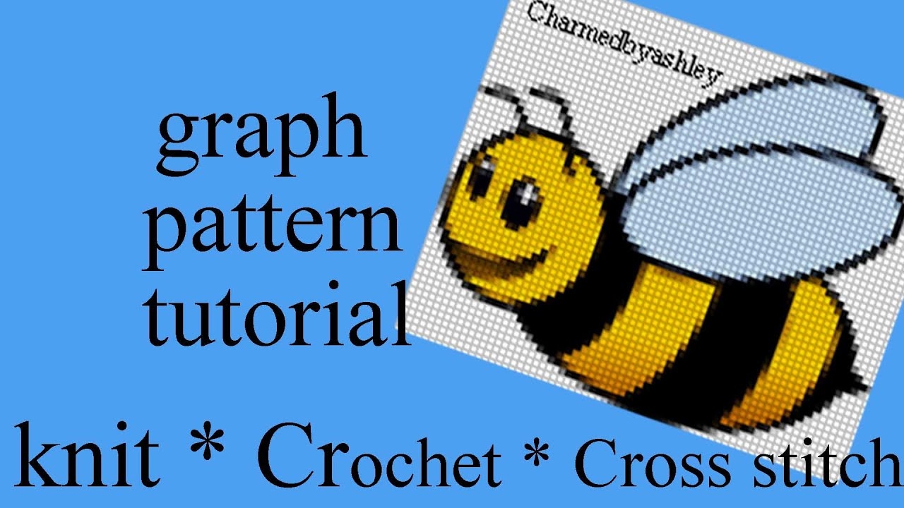 How to Create CROCHET CROSS STITCH KNIT GRAPH PATTERNS - YouTube