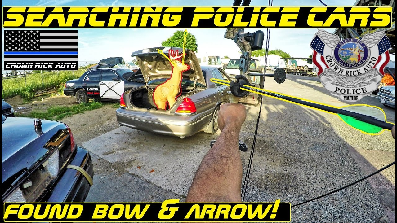 searching-police-cars-found-bow-arrow-put-to-the-test-auction-day