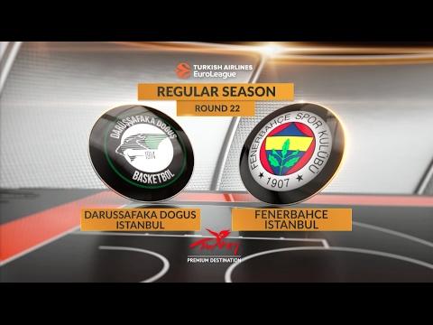 Highlights: Darussafaka Dogus Istanbul-Fenerbahce Istanbul