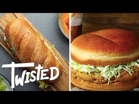 Giant Party Sandwiches 6 Ways