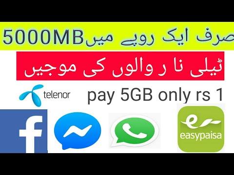 Telenor Ki Sim Per 1 Ruppy Mai 5000MB Telenor Offer