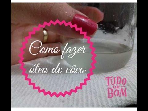 Como fazer óleo de côco fácil - Camila Costa