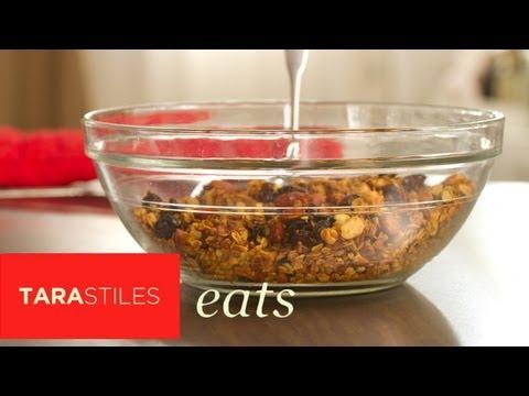 Healthy Maple Granola Recipe | Tara Stiles Eats