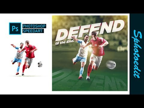 Poster design in adobe photoshop _football payers_motion graphic | photoshop tutorial thumbnail