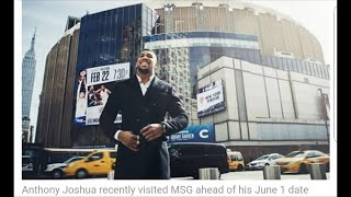 ANTHONY JOSHUA LOVING THE BIG CITY OF NEW YORK MAY CONTINUE CAREER IN STATES ?