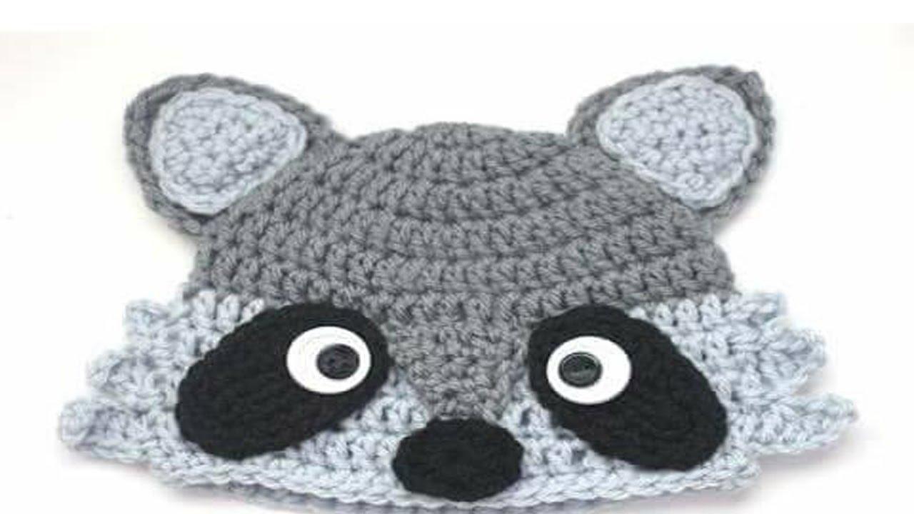 Gorros de animales Tejidos En Crochet y Dos Agujas Para Niños - YouTube