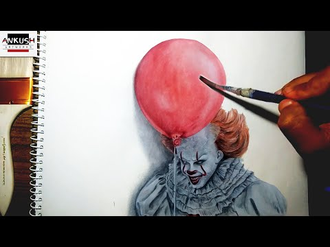 drawing pennywise the clown step by step
